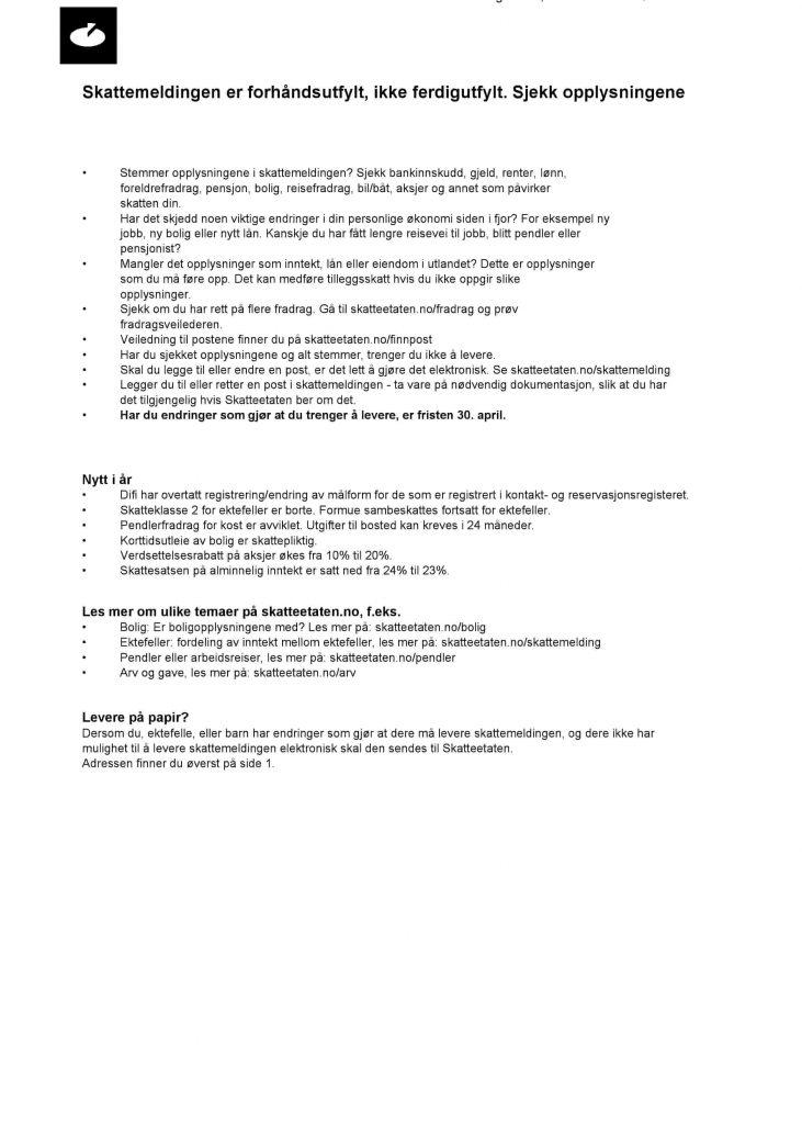 Declaración de la renta Noruega
