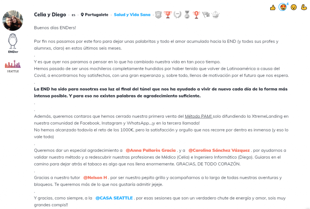 Testimonio de Celia y Diego de la Escuela Nómada Digital (END).
